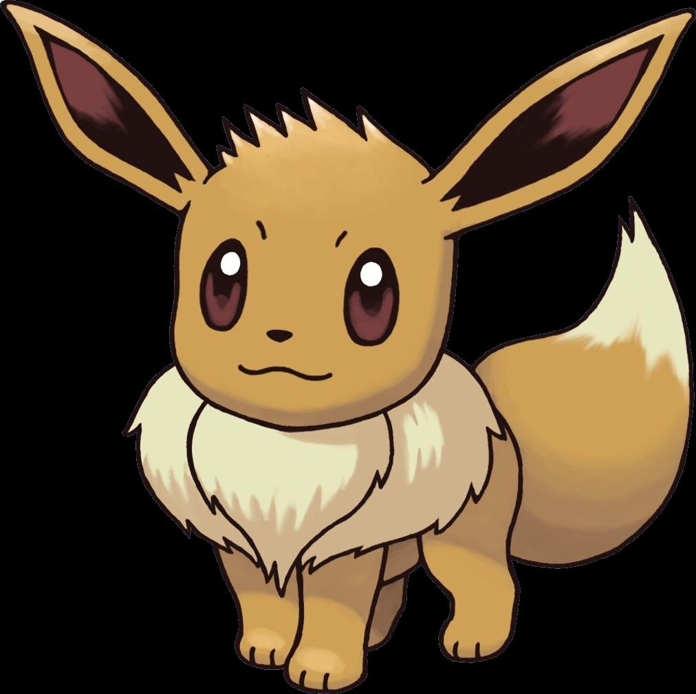 Eevee Pokemon transparent PNG.