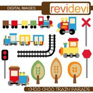 Clip art Choo Choo Train (for personal and commercial use) by.