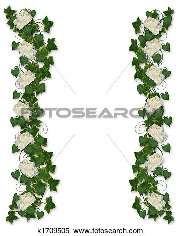 Clipart of Hand drawing peony flowers frame. k6709052.