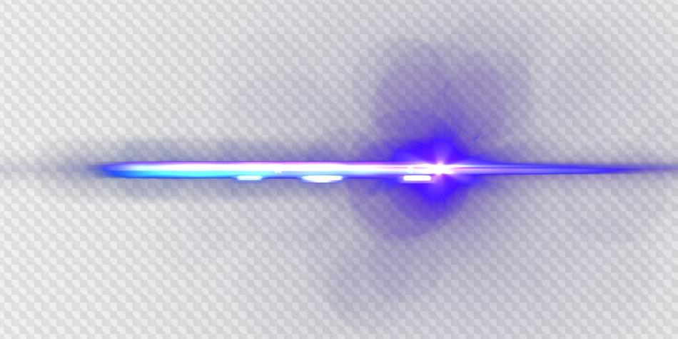 PSD, 5 Transparente PNG, Efecto de luz, azul, verde, púrpura.