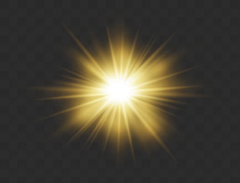 Destellos, deslumbramiento, efectos de luz, PNG.