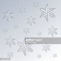 Antecedentes DE Los Copos DE Nieve En Efecto Papel vectores.