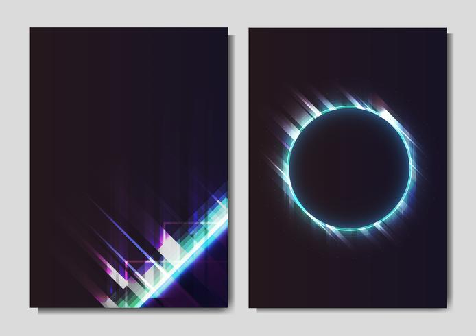 Cartazes de efeito de luz de néon.