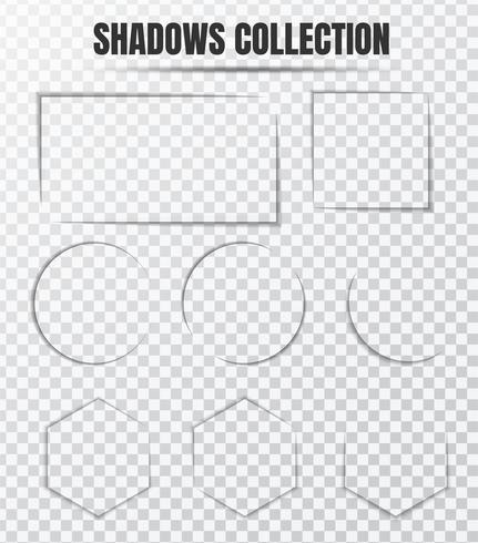 Conjunto de vetores de efeito de sombra realista Componentes.
