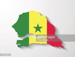 Mapa DO Senegal Com Apresentação DE Efeito DE Sombra imagens.