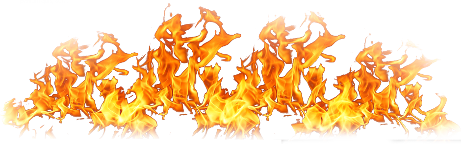 Collection of free Transparent flames black background.