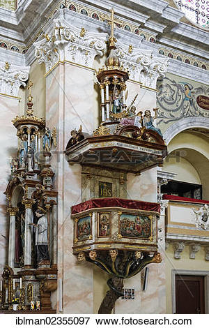 "Picture of ""Pulpit of the Seven Deadly Sins, Parish Church of."