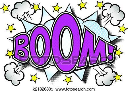 Comic sound effect boom Clipart.