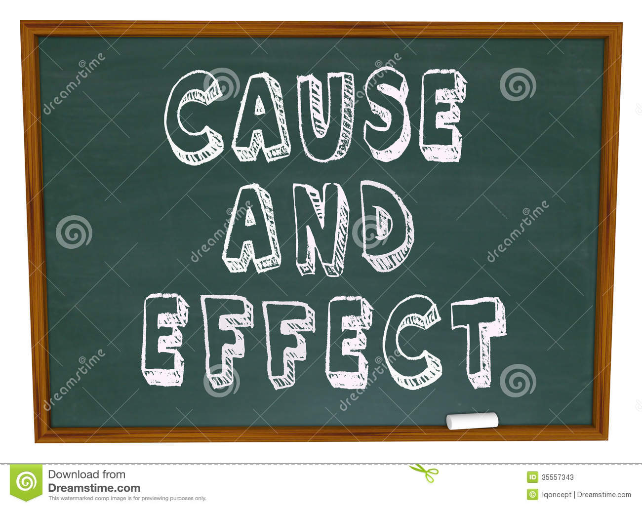 Cause and effect clip art.