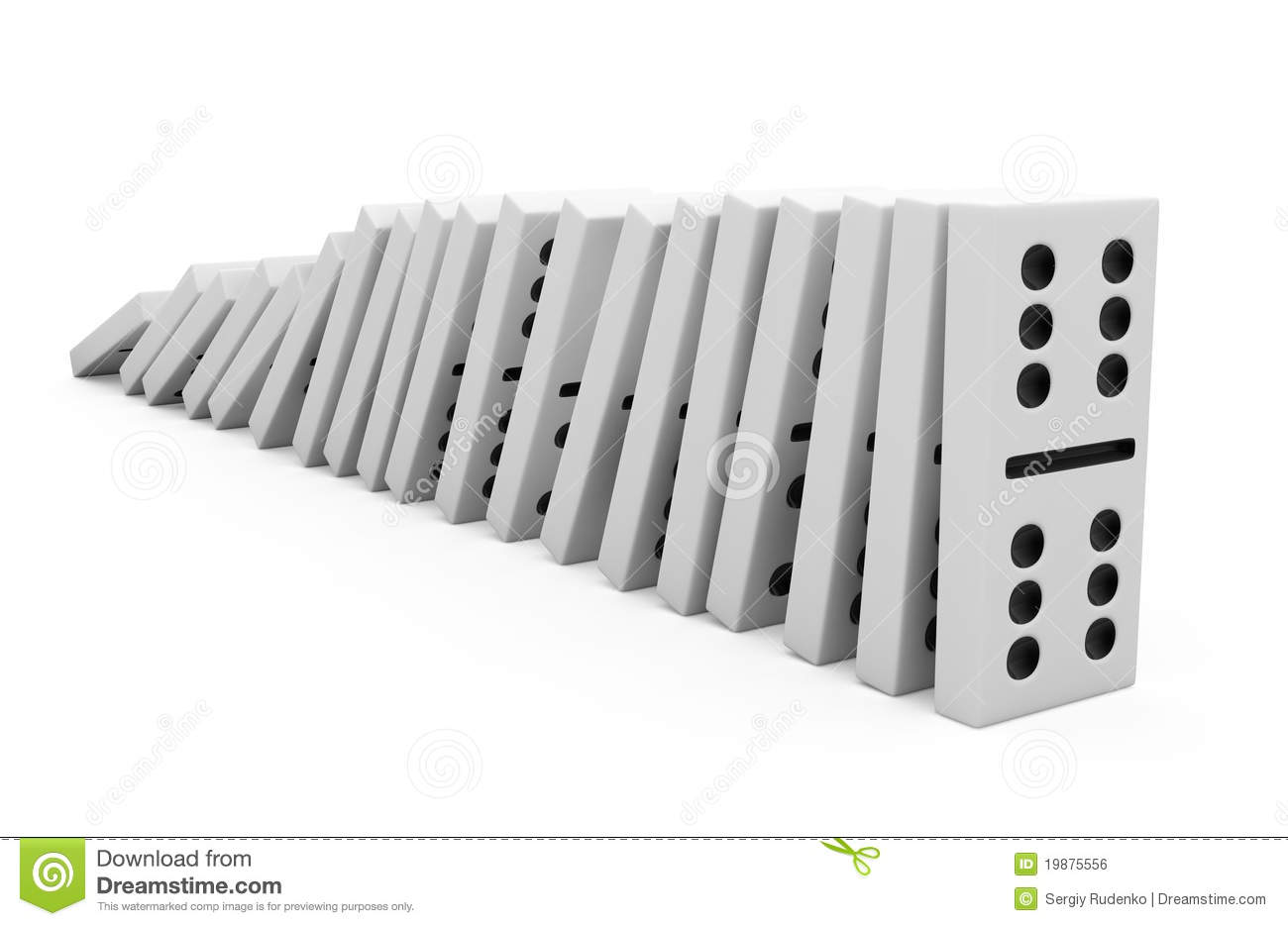 Domino Effect Clipart.