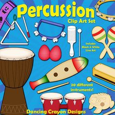 Musical instruments, Clip art and Instruments on Pinterest.