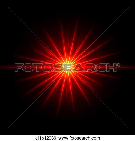 Clip Art of Smooth light lines with lens effect vector k11512036.