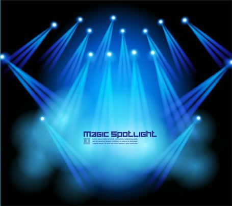 Stage Lighting Effects 05, Vector.