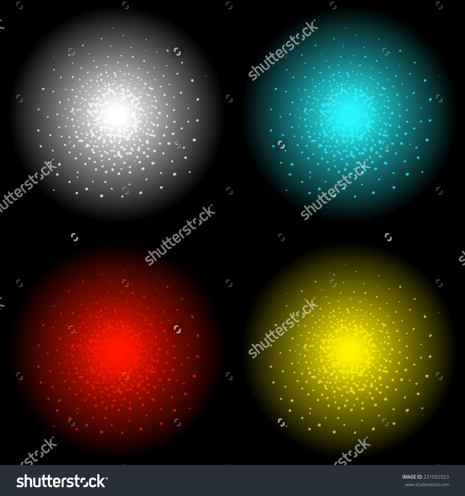 Star Shine Bright Glow Light Vector Stock Vector 231092923.