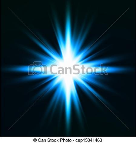 Clip Art Vector of Light flare blue effect. Vector.