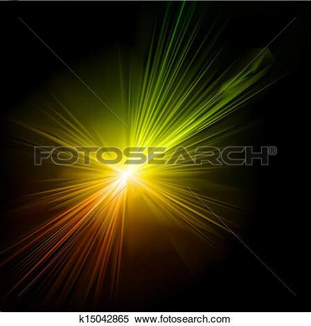 Clipart of Light flare effect. Vector k15042865.
