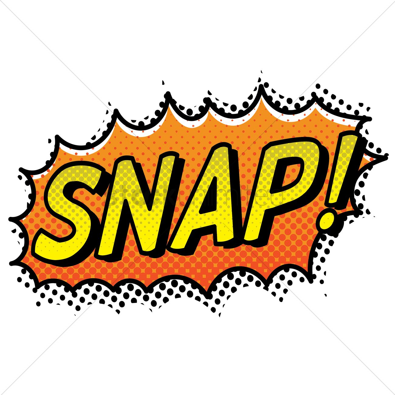 Snap text with comic effect Vector Image.