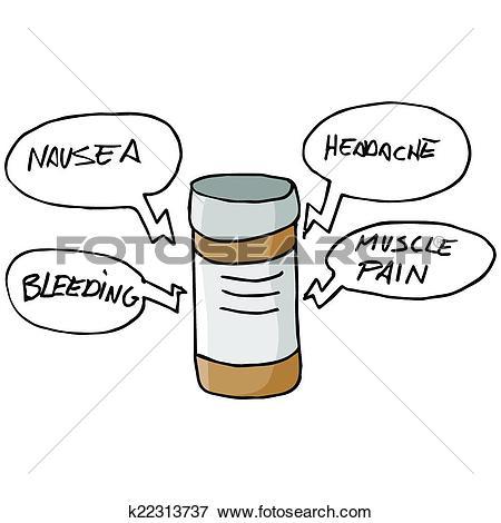 Clip Art of Medication Side Effects k22313737.