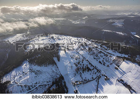 "Stock Photo of ""Willingen Effelsberg ski resort, aerial view."