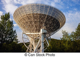 Stock Photography of Radio Telescope Effelsberg in Germany with a.