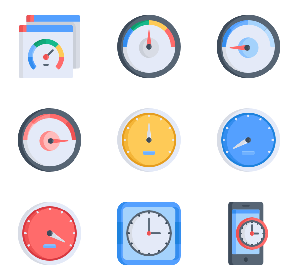 Efficiency Icons.