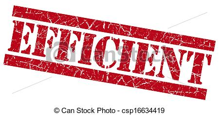 Clipart of Efficient red grunge stamp csp16634419.