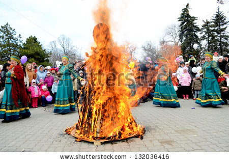 Burning Effigies Maslenitsa Stock Photos, Royalty.