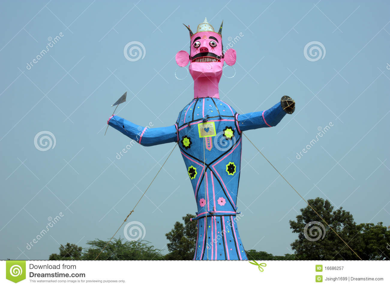 Meghnath Effigy In A Ground Royalty Free Stock Photography.