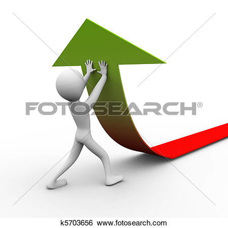 Stock Photography of Results Effort Graph k18986560.