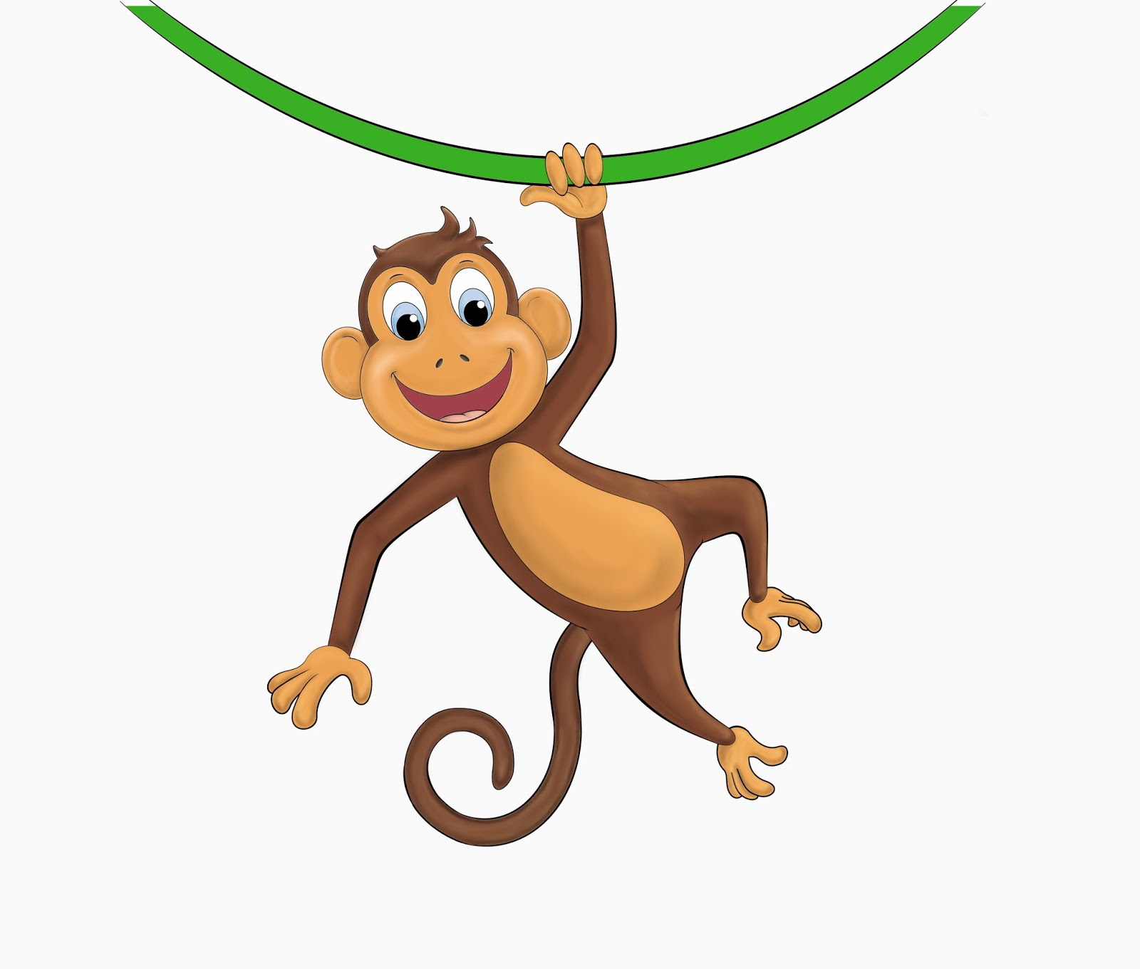 Picture Of Monkey Hanging.