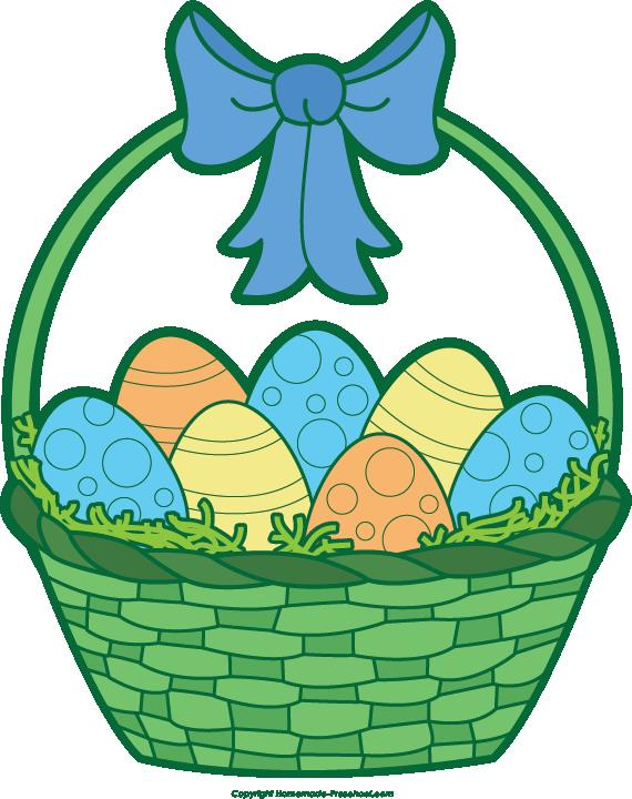 Easter Egg Basket Clip Art.