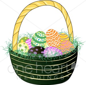 Easter Egg Basket Clipart.