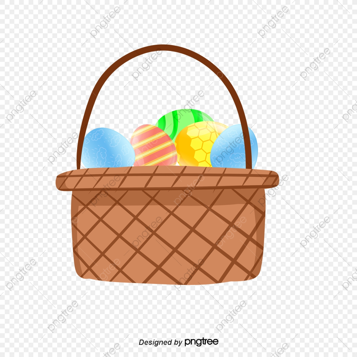 Egg Basket, Egg Clipart, Eggs, Basket PNG Transparent Clipart Image.