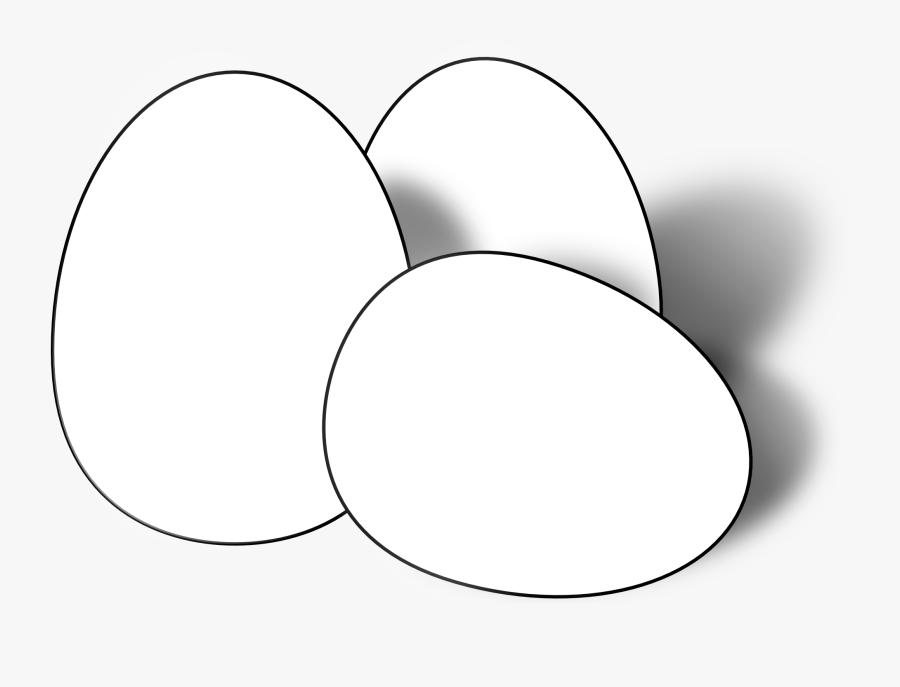 Egg Black And White , Free Transparent Clipart.