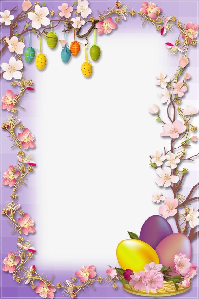 Easter egg border PNG clipart.