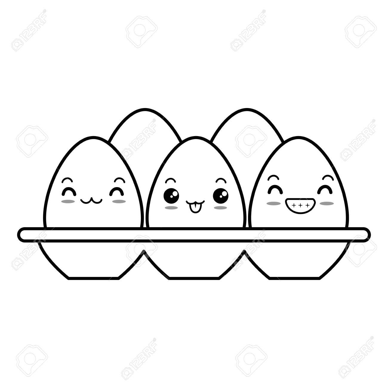eggs carton character vector illustration design.
