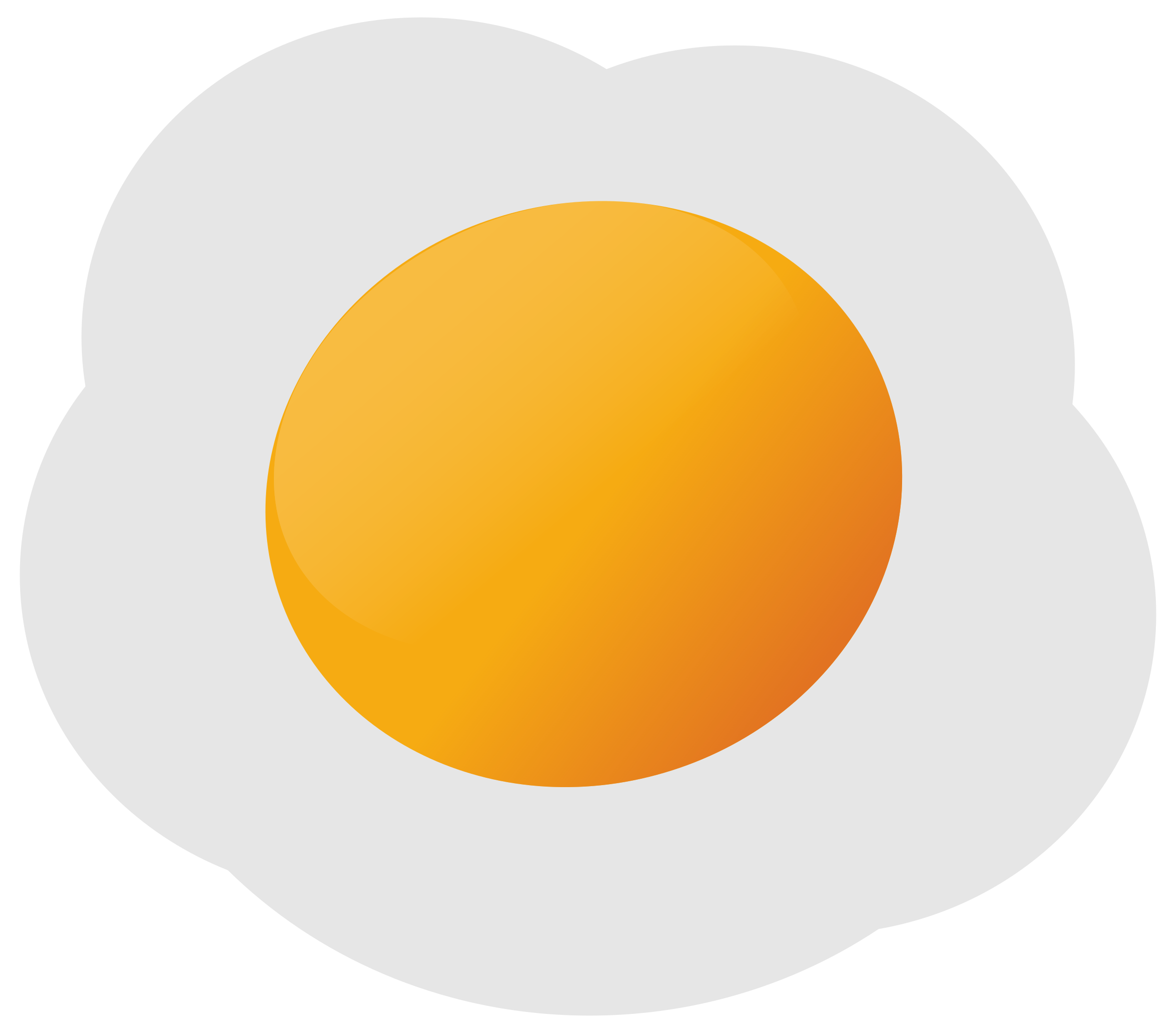 Fried Egg Vector Clipart image.