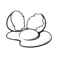 Broken Egg Clipart Black And White.