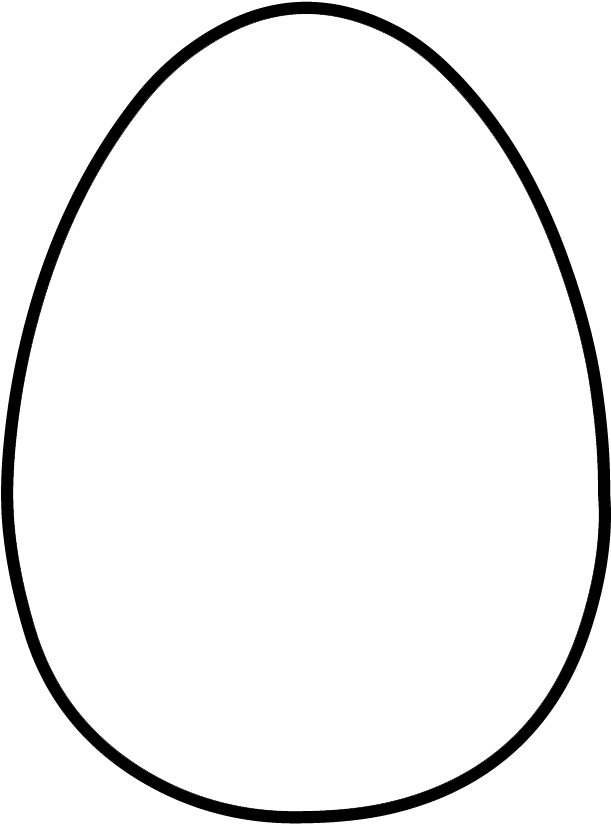 HD Vector Freeuse Egg Clipart Outline.