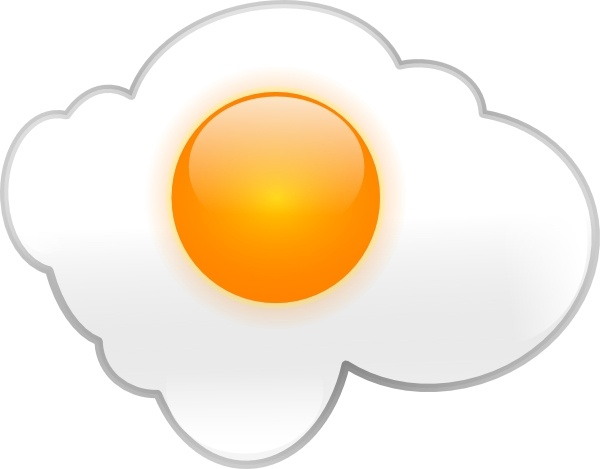 Fried Egg clip art Free vector in Open office drawing svg.