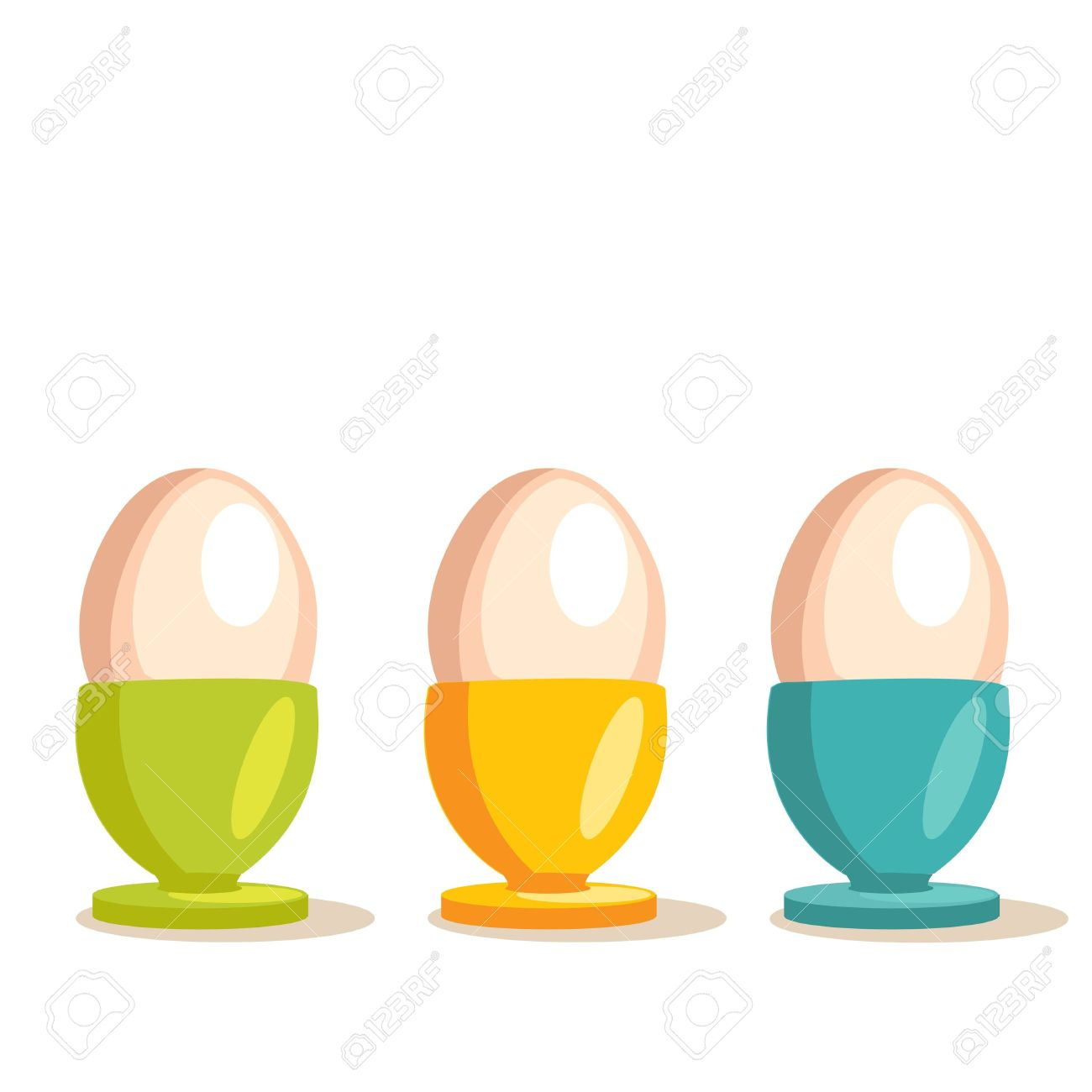 Cartoon Egg Cups Royalty Free Cliparts, Vectors, And Stock.