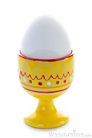 Boiled Egg In Egg Cup Royalty Free Stock Photography.