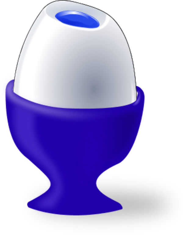 Easter egg in egg cup.