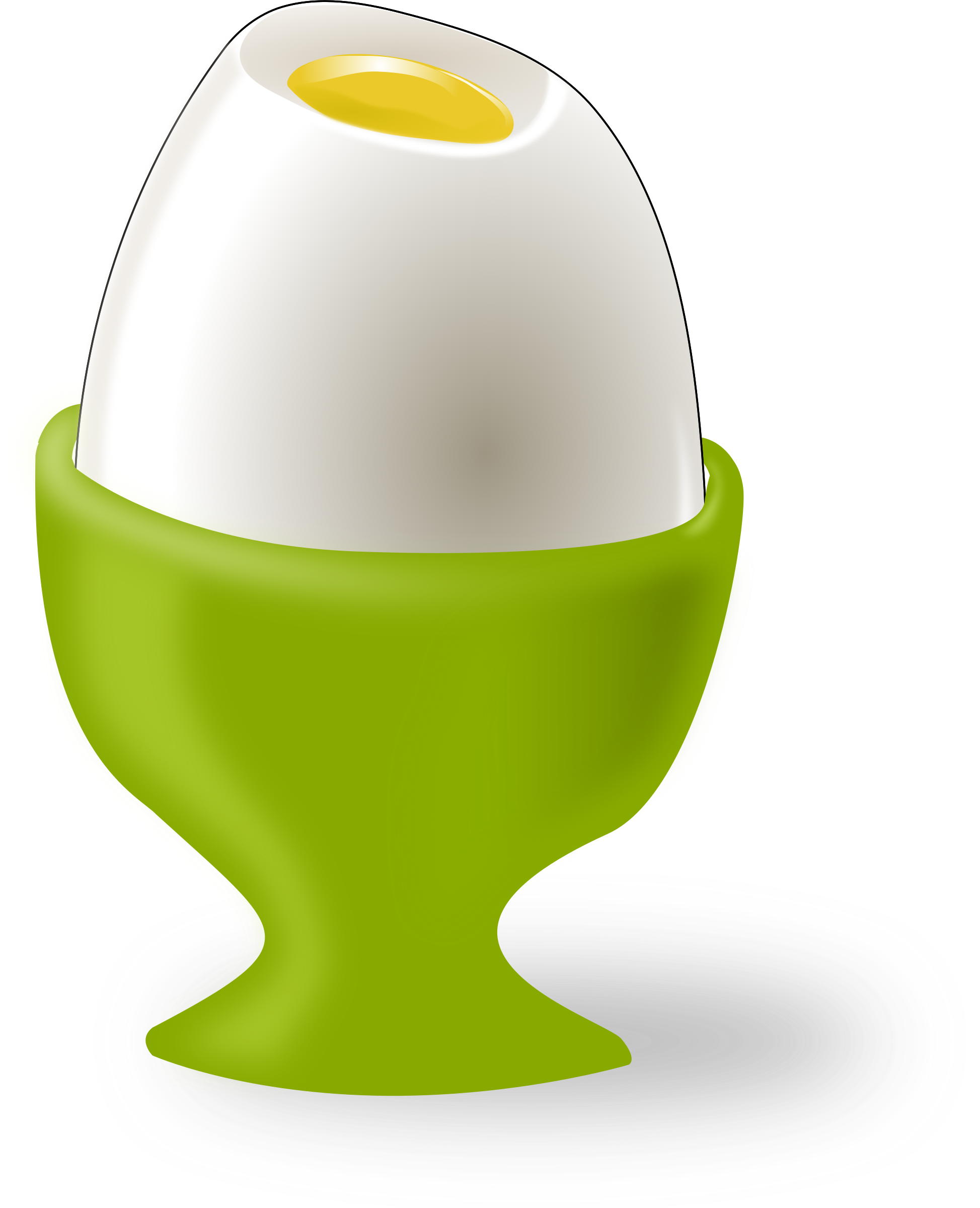 Egg in Cup Vector Clipart.