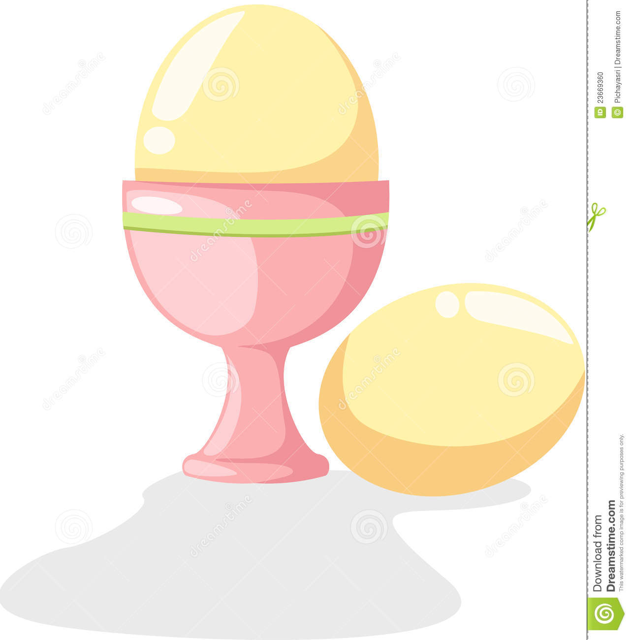 Egg Cup Stock Photo.