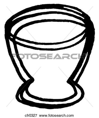 Stock Illustration of A Basket of eggs in black and white szo0595.