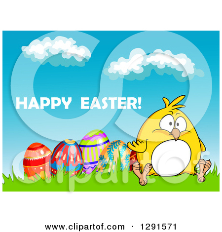 Clipart of a Floral Easter Egg.