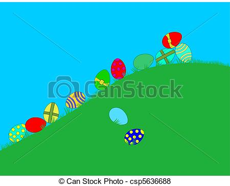 Vector of Easter eggs.