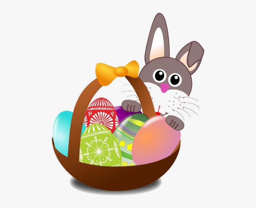 Easter Basket Bunny Png.