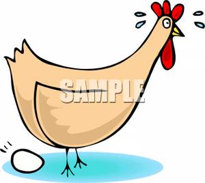 Chicken laying eggs clipart.